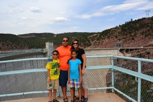 overlooking Flaming Gorge Dam