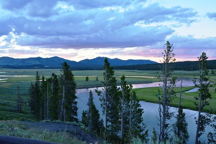 Hayden Valley at sunset