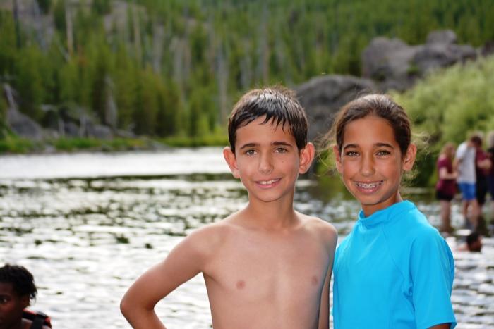 Swimming at Firehole Canyon