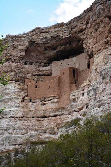 Montezuma Castle NM sits high up.