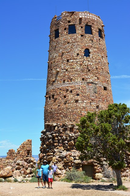 The Desert View Watch Tower on the far east of GCNP.