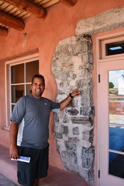The historic Painted Desert Inn was originally built using real petrified wood.