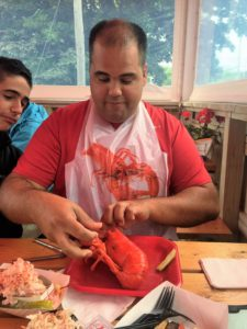 He has been waiting a long time for this lobst-ah :)